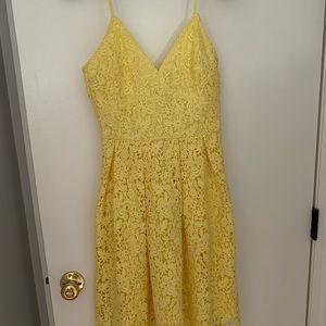 Gorgeous yellow lace dress